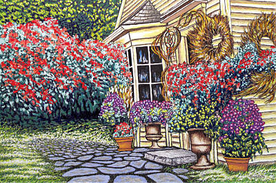 Cottage Of The White Witch Art Print by David Linton
