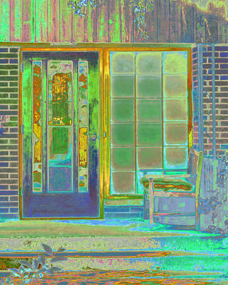 Cottage Porch Art Print by Don and Judi Hall
