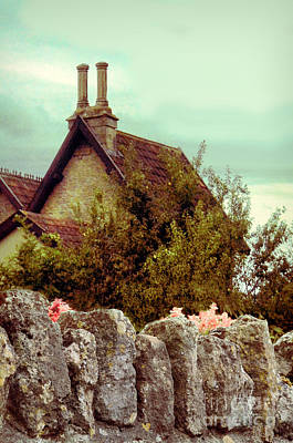 Photograph - Cottage Seen Over A Wall by Jill Battaglia