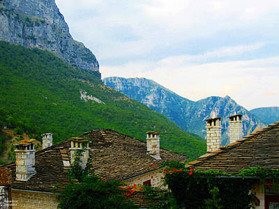 Photograph - Cottages And Mountains by Alexandros Daskalakis