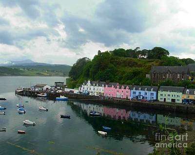 Photograph - Cottages At Portree In Skye by Joan-Violet Stretch