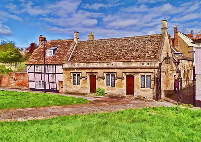 Cottages Devizes -2 Art Print