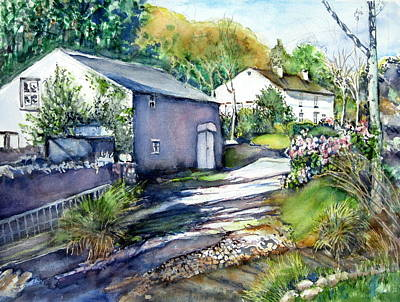 Painting - Cottages In Summer by June Conte  Pryor
