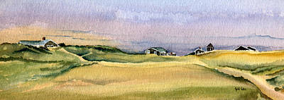 Cape Cod Painting - Cottages In The Dunes by Heidi Gallo