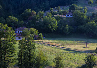Photograph - Cottages In The Mountain by Radoslav Nedelchev