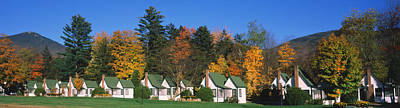 Cottages On A Hill, Franconia Notch Art Print by Panoramic Images