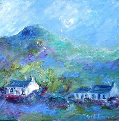 Cottage Ireland Painting - Cottages On Eagle Hill Summer by Trudi Doyle