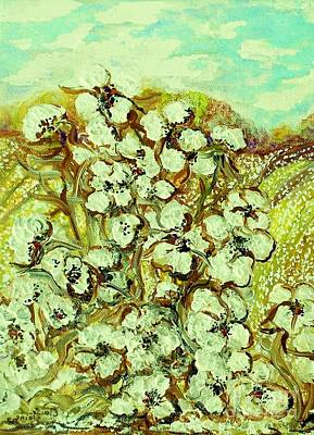 Landscape Painting - Cotton ... A Way Of Life by Eloise Schneider