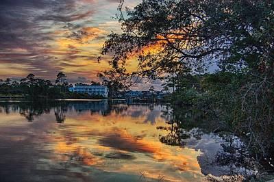 Art Print featuring the digital art Cotton Bayou Sunrise by Michael Thomas