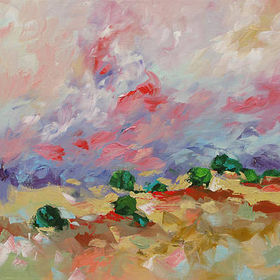 Painting - Cotton Candy Clouds by Linda Monfort