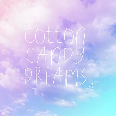 Cotton Candy Dreams Art Print By Ashley Hutchins
