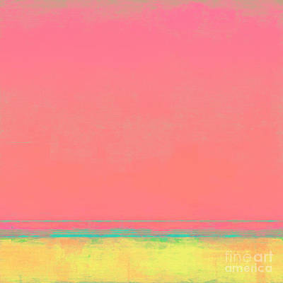 Cotton Candy Beach Art Print by Lonnie Christopher