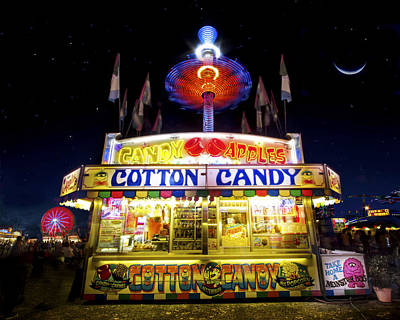 Moon Photograph - Cotton Candy by Mark Andrew Thomas