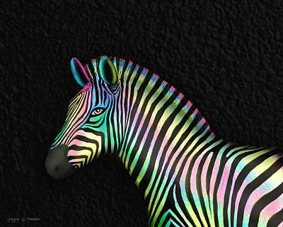 Eyes Drawing - Cotton Candy Zebra by Ginger Guillot