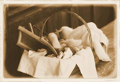 Photograph - Cotton Combing Basket by Sheri McLeroy