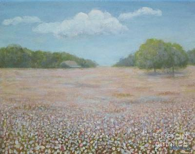 Painting - Cotton Field by Jean Ehler