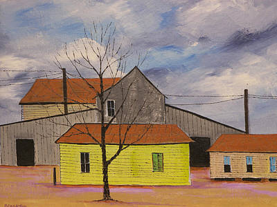 Cotton Gin Painting - Cotton Gin by Ken  Blacktop  Gentle