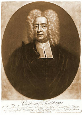 Cotton Mather 1728 Art Print by Padre Art
