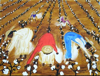 Cotton Picking People Art Print