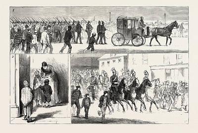 Cotton Riots In Lancashire, Uk, 1. A Detachment Of The 15th Art Print