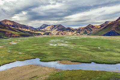 Mountain Photograph - Cottongrass Field Landmannalaugar by Jeffrey Van Daele