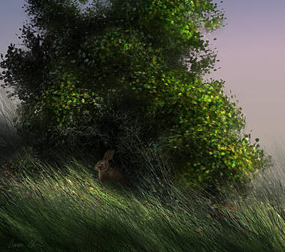 Nature Digital Art - Cottontail by Aaron Blaise