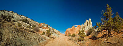 Dirt Roads Photograph - Cottonwood Canyon Road Passing by Panoramic Images