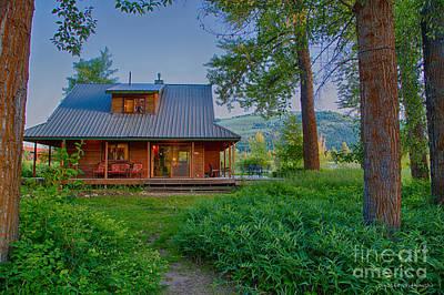 Digital Art - Cottonwood Cottage At Sunset by Omaste Witkowski