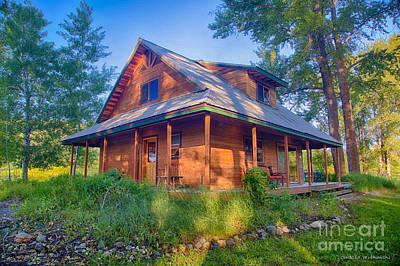 Digital Art - Cottonwood Cottage  by Omaste Witkowski