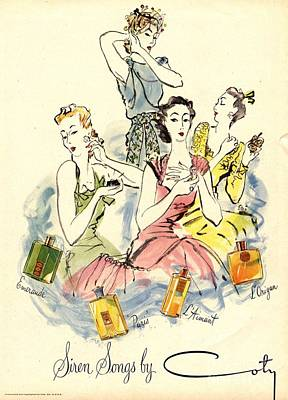 Coty 1940s Uk Womens Art Print by The Advertising Archives