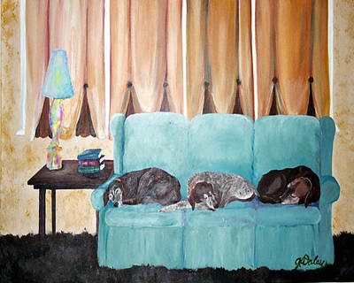 Painting - Couch Potatoes by Gail Daley