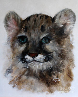 Painting - Antares - Cougar Cub by Barbie Batson