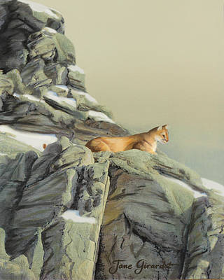 Painting - Cougar Perch by Jane Girardot
