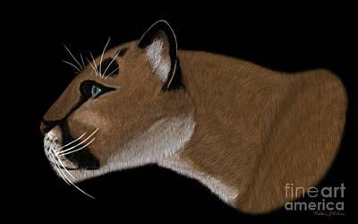 Digital Art - Cougar Portrait by Walter Colvin