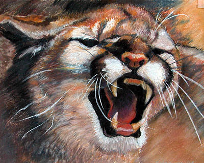 Painting - Cougar by Synnove Pettersen