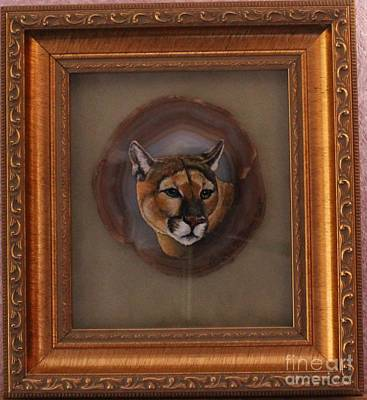 Painting - The Mountain Lion by Bob Williams
