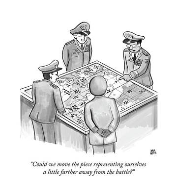 General Drawing - Could We Move The Piece Representing Ourselves by Paul Noth