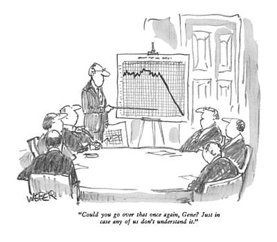 Boardroom Drawing - Could You Go Over That Once by Robert Weber