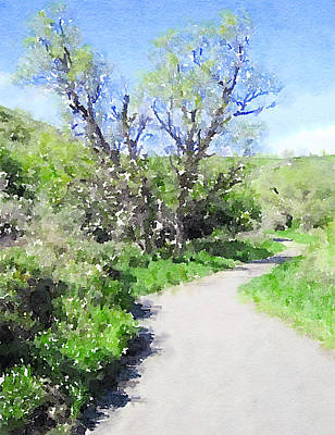 Digital Art - Coulee Path by Donald S Hall