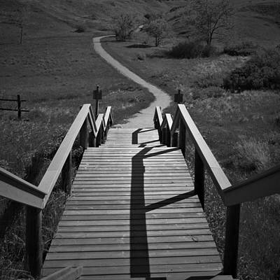 Photograph - Coulee Stairs by Donald S Hall