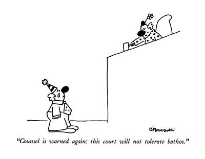 Crying Drawing - Counsel Is Warned Again: This Court by Charles Barsotti