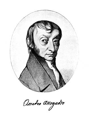 Autographed Painting - Count Amedeo Avogadro (1776-1856) by Granger