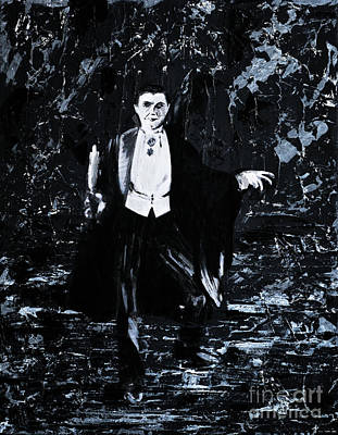 Bela Painting - Count Dracula by Alys Caviness-Gober