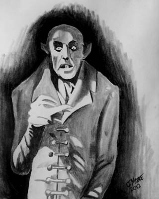 Nosferatu Drawing - Count Orlock by Jeremy Moore