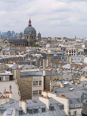 Photograph - Paris Chimney Tops by Heidi Hermes