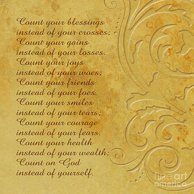 Poems Photograph - Count Your Blessings by Olga Hamilton