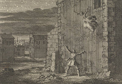 Night Out Drawing - Countess Of Aubigny Escaped From Her Prison In London by Jan Luyken And Pieter Van Der Aa (i)