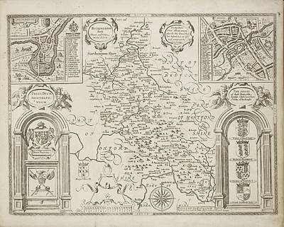 Counties Of England Art Print by British Library