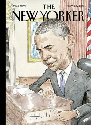 President Painting - Counting by Barry Blitt