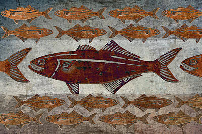 Numbers Digital Art - Counting Fish by Carol Leigh